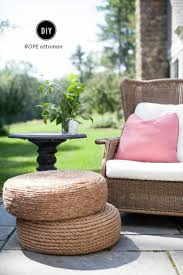 Diy Ottoman From Coffee Table by Best 25 Rope Tire Ottoman Ideas On Pinterest Cheap Rope Seat