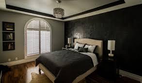 Black And Gray Bedroom | sherman oaks condo modern ls black and gray bedroom black and