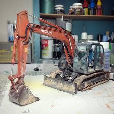 psbattle 1 35 scale model of a hitachi excavator photoshopbattles
