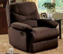 brier chocolate microfiber recliner steal a sofa furniture