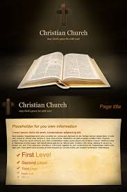 church free powerpoint template