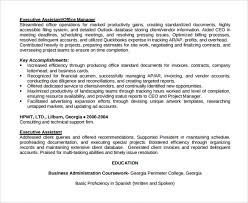 Special Education Assistant Resume Sample Office Assistant Resume 9 Download Free Documents In Pdf