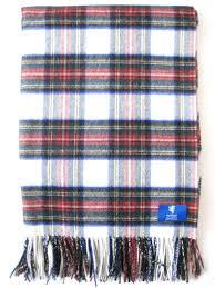 stewart tartan 100 cashmere blanket made in scotland