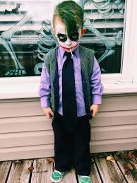 Halloween Costumes Kids Boys Diy Joker Toddler Costume Halloweenie Toddler