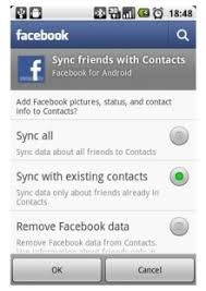 sync to android disables contact sync in for android but only