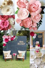 wedding backdrop flowers paper flower wedding reception wall ideas mid south