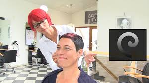 hair styles for 44 year ol ladies extrem short haircut with shaved nape buzz cut women by anja