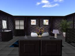 second life marketplace dark brown bathroom set high quality