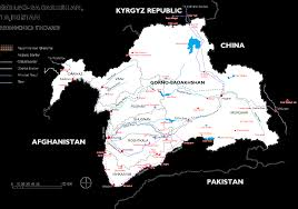 Tajikistan Map Pamirs The Roof Of The World