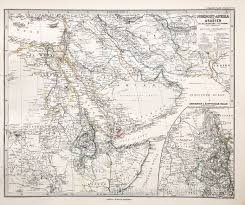 Map Of Middle East And Africa by Map Of Egypt And The Middle East 1885