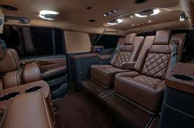 Custom Cadillac Escalade Interior These Insane Pimped Out Vans For Ceos Redefine Commuting Bloomberg