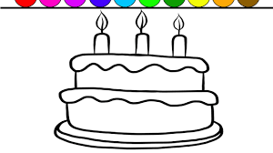 printable coloring pages to learn colors birthday cake coloring page learn colors and color giant game for