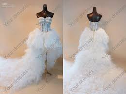 sweetheart beading crystal sequin feathers hi lo laceup satin