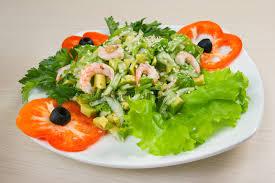 cuisine saine et simple salade simple et saine de crevette image stock image du culinaire