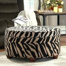 Animal Print Storage Ottoman Animal Print Ottoman Soundbubble Club