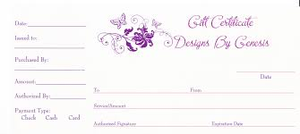 printable blank gift certificate templates
