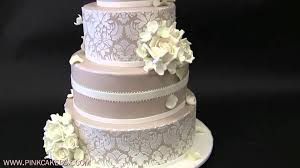 hydrangea and white rose wedding cake youtube