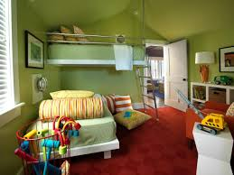 unisex kids bedroom with green walls decorating ideas for unisex