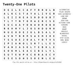 Kitchen Sink Twenty One Pilots by Download Word Search On Twenty One Pilots