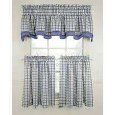 Gray Kitchen Curtains by Buy Blue Kitchen Curtains From Bed Bath U0026 Beyond