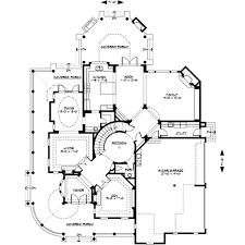 46 5 bedrooms house plans circular stair 4500sf 4 bed 2 storey