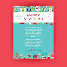 happy new year invitation happy new year invitation vector template flyer stock vector