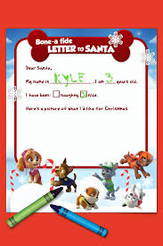 paw patrol letter to santa nickelodeon parents