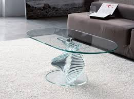 Glass Oval Coffee Table Clear Glass Oval Coffee Table Dans Design Magz Trendy And
