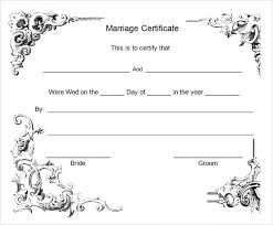 sample marriage certificate template 17 documents in pdf word