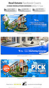 real estate campaign facebook covers template psd design download