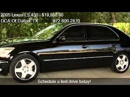 lexus ls 430 for sale by owner 2005 lexus ls 430 one owner leather sunroof for sale