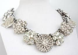 jewelry statement necklace images Chunky wedding jewelry statement necklace rhinestones jpg
