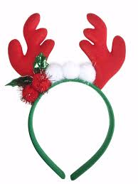 deer ears headband rudolph ear horn pom pom deer reindeer christmas headband hair