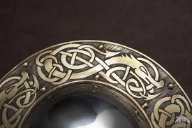 viking shield available in brass by