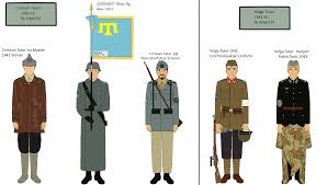 German Flag In Ww2 Flag Of Turkestanische Legion 1943 Waffen Ss Unit Insignias