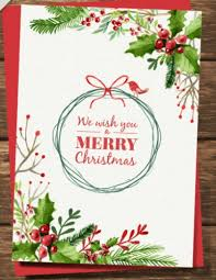 christmas card with watercolor free vector psd free pik psd