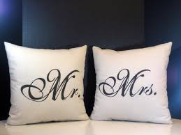 pillow set mr and mrs pillows for wedding gifts newlyweds and