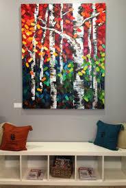 new acrylic birch aspen tree fine art paintings by calgary artist