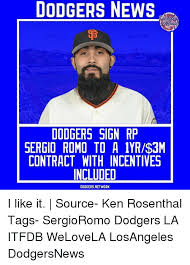 La Dodgers Memes - 25 best memes about sergio romo sergio romo memes