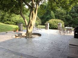 Backyard Concrete Patio by Concrete Patio Chadds Ford Pa Difelice Stamped Concrete