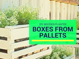 diy wooden planter boxes from pallets loyalgardener