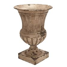 Black Urn Planter by Shop Woodland Imports 18 In X 26 In Rustic Brown Metal Urn At