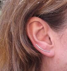 whisper earrings whisper silver ear climber cuff sweep earring ear bobby pins