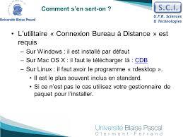 connexion bureau distance pour mac service commun informatique ppt télécharger