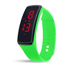 bracelet digital watches images Unisex rubber led watch date sports bracelet digital wrist watch jpg