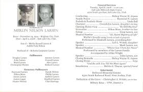 memorial service program template template for memorial service program
