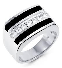 onyx wedding band new 14k white gold black onyx diamond men s band ring men s