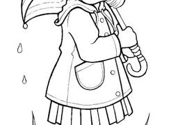 Rainy Day Coloring Pages For Girls Just Colorings Rainy Day Coloring Pages
