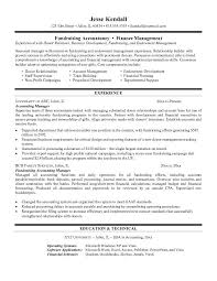 resume accounting manager example fundraising accountant resume free sample example fund
