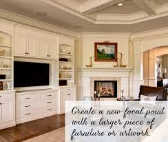 Working With A Corner Fireplace Emily A Clark - Furniture placement living room with corner fireplace